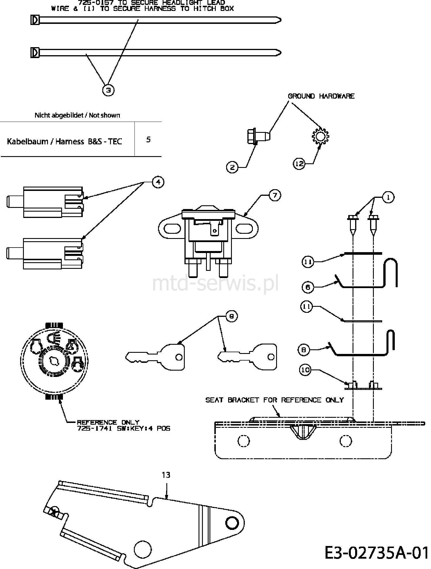 Charmant Mtd Kabelbaum Diagramm Bilder - Elektrische Schaltplan ...