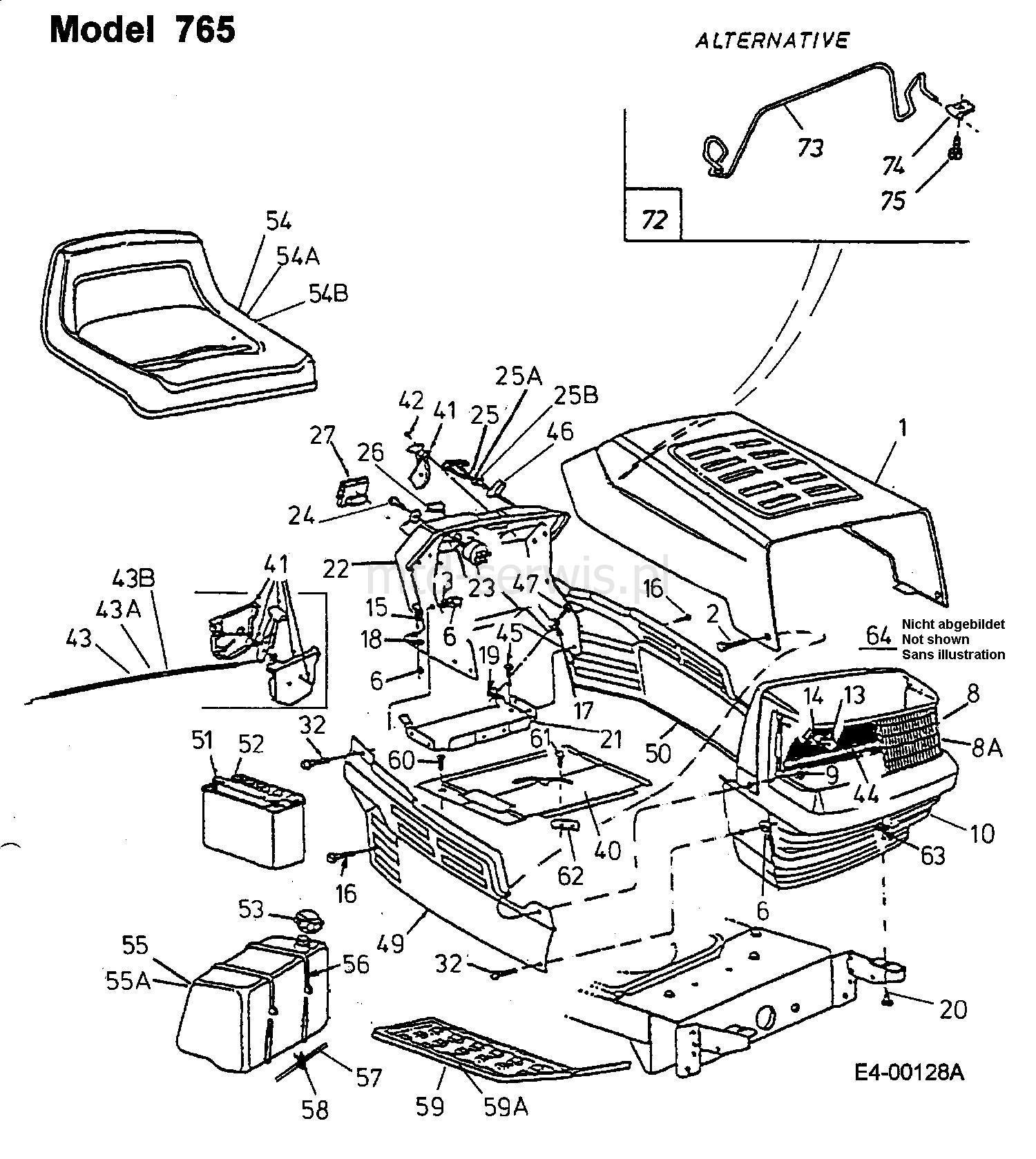 panel przedni obudowa z os on maska z podwieszeniem. Black Bedroom Furniture Sets. Home Design Ideas